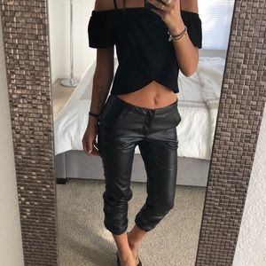 Bebe faux leather jogger